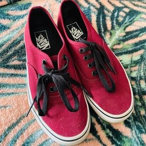 Maroon Red Vans Shoes